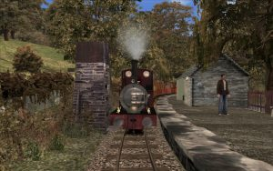 Taking water at Dolgoch