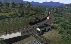 WHR - Southbound Train at Beddgelert